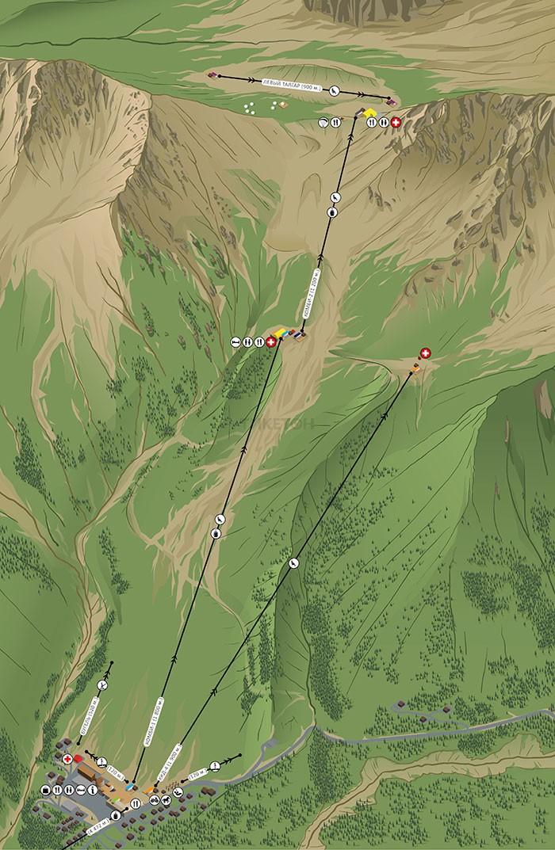 Карта Шымбулака