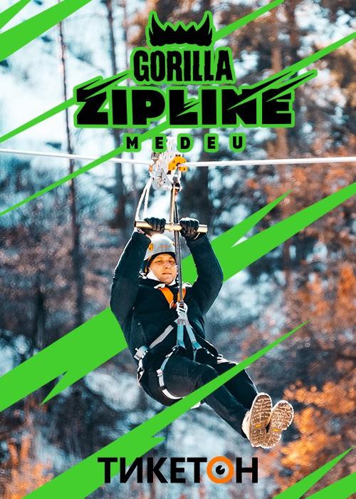 Посещение аттракциона Gorilla Zipline Medeu