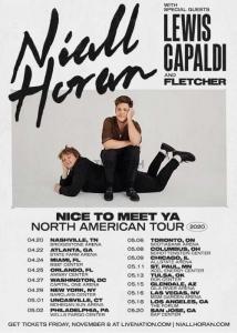 NIall Horan. Nice to meet ya tour 2020