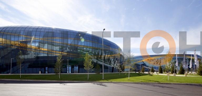 Ледовая арена Алматы - снаружи