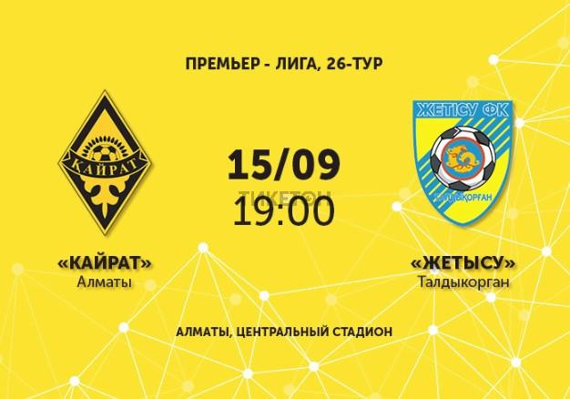 ФК «Кайрат» - ФК «Жетысу»