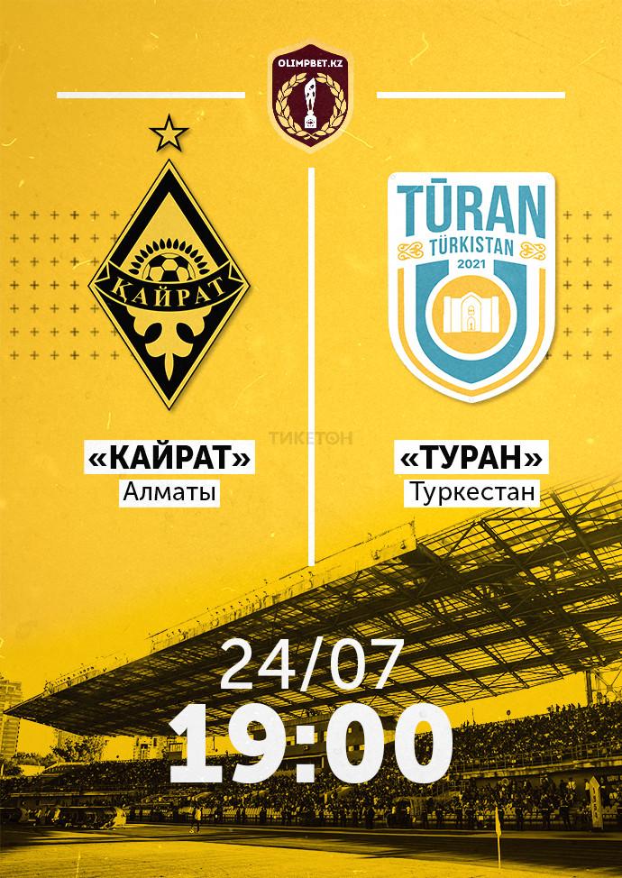ФК «Кайрат» - ФК «Туран»